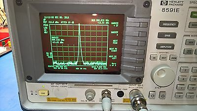 HP 8591E Spectrum Analyzer with Opt 21 (HPIB) and a current calibration