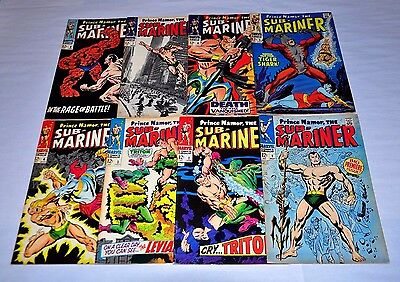Sub-Mariner 1 2 3 4 5 6 7 8 Silver Age Lot NICE Capital City Collection