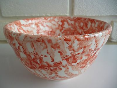 Mixing Bowl By Stoviglierie Red Spongeware Italy