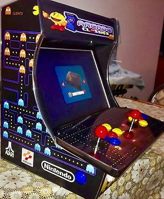 "Cabinet ARCADE medium ALL BAR CLASSIC GAMES MAME, 19"", 2 PLAYERS PLUG N' PLAY"