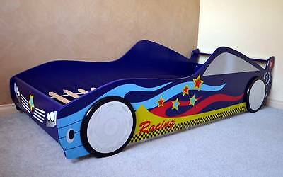 New Childrens Bedroom Furniture Wooden Kid Racing Car Bed