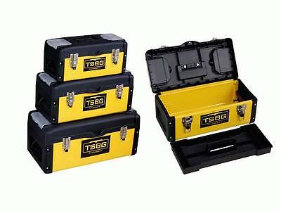 New Heavy Duty Steel & Plastic Construction Tool Box Toolbox (3 Pcs Set)