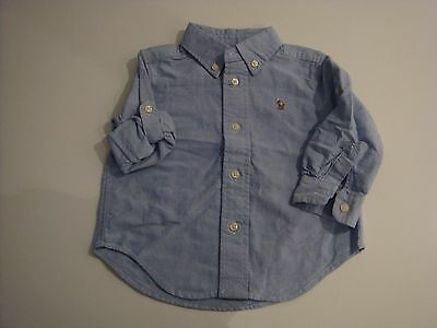 Polo Ralph Lauren Boys denim effect Shirt Age 12 Months Excellent Condition