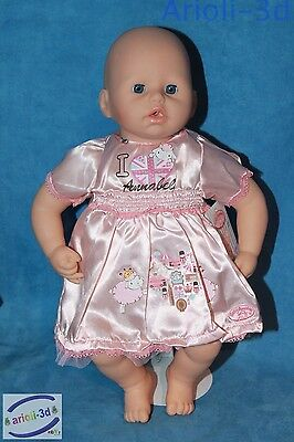 Pink Dress Clothes Baby Annabell Zapf Creation Poupée 18'' 46Cm Doll New Robe