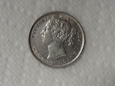1900 Newfoundland 20 Cent Silver Coin  * Looks High Grade  * K# 4