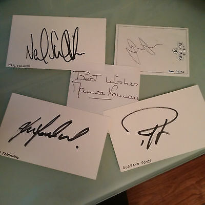 5x Tottenham Spurs Autographs Signed include Maurice Norman Double nt ticket