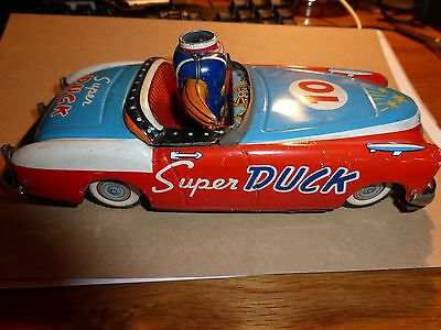 **vintage Ichiko** Japanese Tin 'super Duck' Mga  1960's