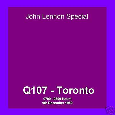 Pirate Radio Beatles John Lennon Special Q107 fm Toronto 09.12.80 Compact Disc
