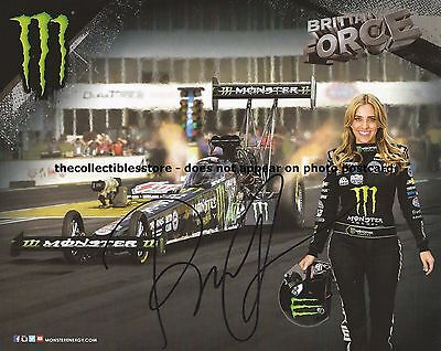 Brittany Force Autographed Signed Monster Racing Nhra Dragster Photo Postcard