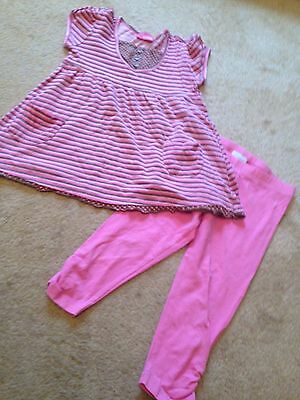 Girls Pink Leggings And Top Outfit, Age 6 Years