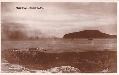 RP ISLE OF BARRA MULDONACH OUTER HEBRIDES  REAL PHOTO c1920