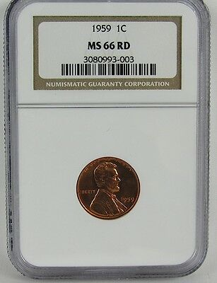 1959 Lincoln Cent Ngc Ms66Rd