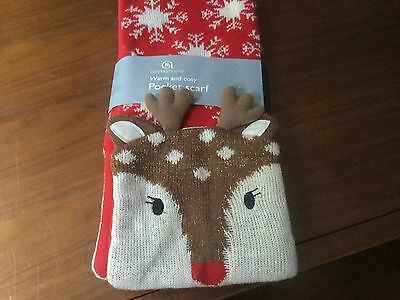 John Lewis Aroma Home Knitted Deer Pocket Scarf RRP £25