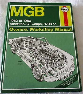 MGB 1962 to 1980 HAYNES OWNERS WORKSHOP  MANUAL-SEE PICTURE FOR MODELS