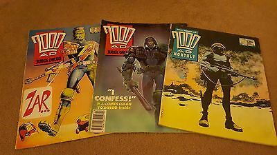 2000ad vintage  comics - 3 in total from1989