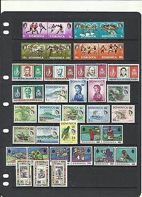 Dominica.  1967 - 1969 . Mint Selection.