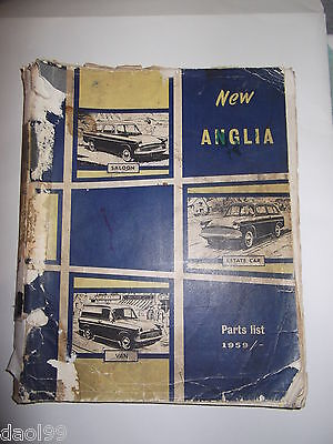 Ford Anglia 105E/106E,307E/308E Saloon,Estate & Van Parts Book