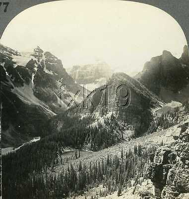 Canada ~ LAKES IN THE CLOUDS ~ Stereoview 277kscam13823