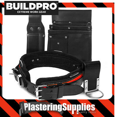 BuildPro Plasterers Hangers Set 4 Piece Leather Heavy Duty Stitching PHS
