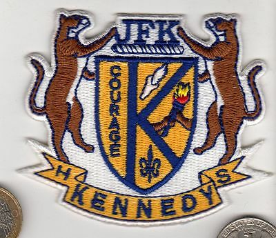 Kennedy Jfk Courage Patch High School Athletic Sports Basketball Football Track