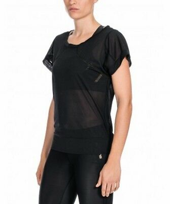 SKINS PLUS Womens Mission Short Sleeve Tee Black  S or M   NWT