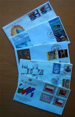 100 United Nations Unaddressed Decimal First Day Covers Mixed Years