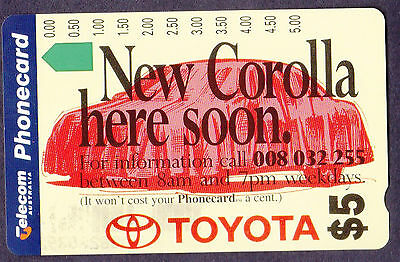 *PHONECARDS.MINT.$5.NEW COROLLA.Prefix 557.Collector clearance.*