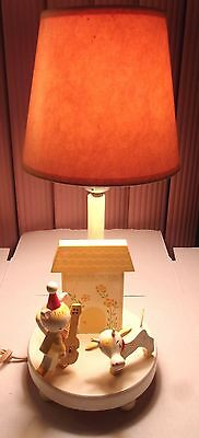 Vintage Irmi Hey Diddle Diddle Child's Lamp - Orig. Shade
