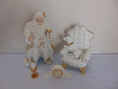 Traditions Porcelain Christmas Santa Centerpiece Display Replacement Pieces
