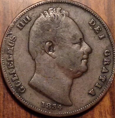 1834 Gb Farthing Nice Example Clean Field