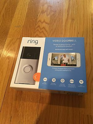 Ring Doorbell Video WiFi Enabled Security Camera Silver NEW/SEALED