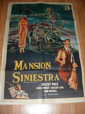 House On Haunted Hill-Price-1958 Argentine One Sheet-
