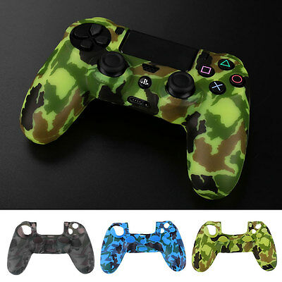 Camouflage Color Silicone Soft Cover Case For Playstation 4 PS4 Controller