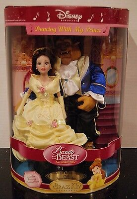 DISNEY Beauty & the Beast Doll Dancing With My Prince Brass Key Musical