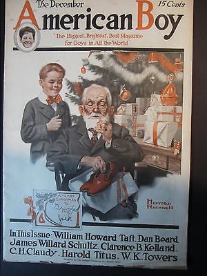 RARE - Complete Magazine Dec 1916 - Normal ROCKWELL - Christmas - American Boy