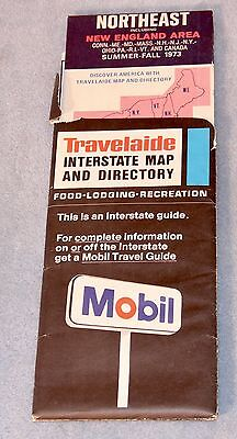 1973 MOBIL Gasoline ROAD MAP Northeast United States and Canada