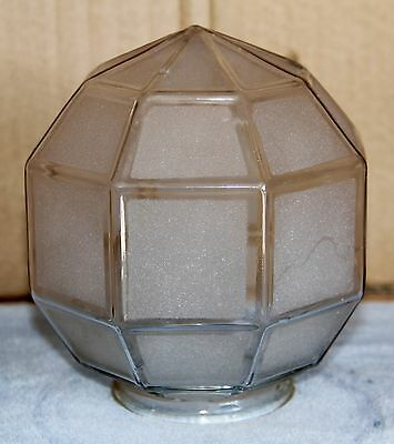 "Antique 6"" Octagonal Clear FROSTED Glass Lamp or Light Shade"