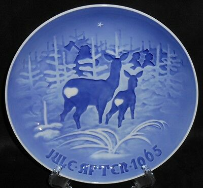 "Bing & Grondahl B&G 1965 Plate ""Skoven for Jul - Christmas In The Forest"""