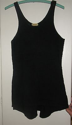 True Antique Wool Black 1920s 1 Piece Bathing Suit VG Conditiion