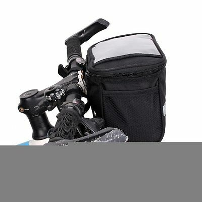 Reflective Stripe Cycling Basket Bike Handlebar Bag Outdoor Bicycle Front Pack