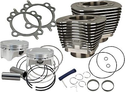 "S & S Cycle 910-0500 Big Bore Kits 107"" Black Powder-Coat"
