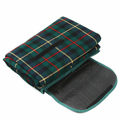 200x150cm Waterproof Rug Blanket Outdoor Camping Mat Plaid Green CT3 CT