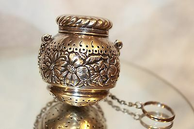Very Rare Gorham Sterling Silver Tea Ball / $375 / 7 days only