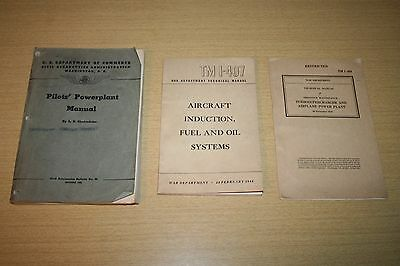 3 WWII War Department Aircraft  and Pilot Technical Manuals 1942 to 1944