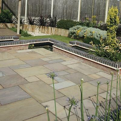 RAJ GREEN INDIAN SANDSTONE Calibrated Paving Slabs 600 Mixed Size Pack £13.50/m2