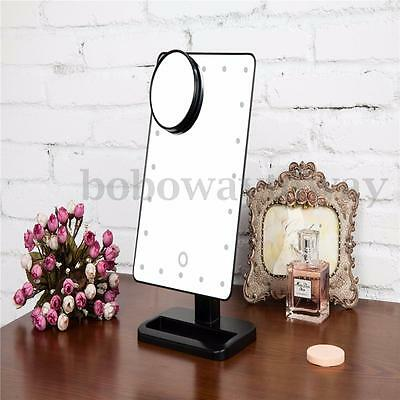 Make-up Beauty Mirror 20LED Portable Lighted 1X 10X Magnification Touch Light