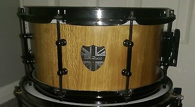 *REDUCED* DSP Drums one off 12x6 Solid wood European Oak stave snare drum.