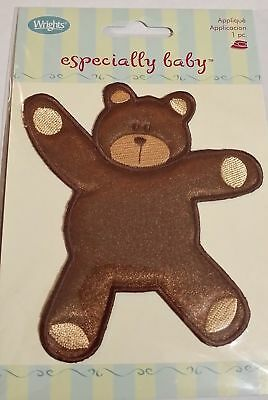 Teddy Bear Iron on Patch  Wrights