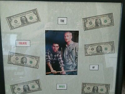 Paul Newman/Tom Cruise signed 'Color of Money' collage