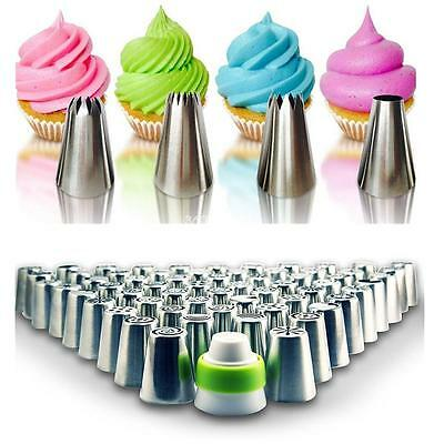 Pastry Tips Set Russian Icing Piping Nozzles Kitchen Cake Decor Baking Tools Set
